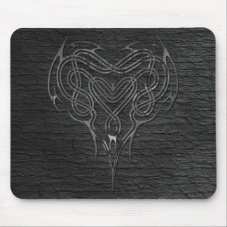 Metal Celtic Heart Knot with wall Mouse Pad