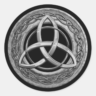 Metal Celtic Trinity Knot Classic Round Sticker