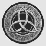 Metal Celtic Trinity Knot Round Sticker
