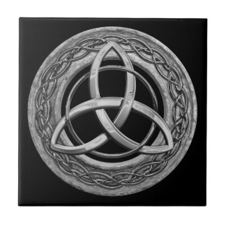 Metal Celtic Trinity Knot Small Square Tile