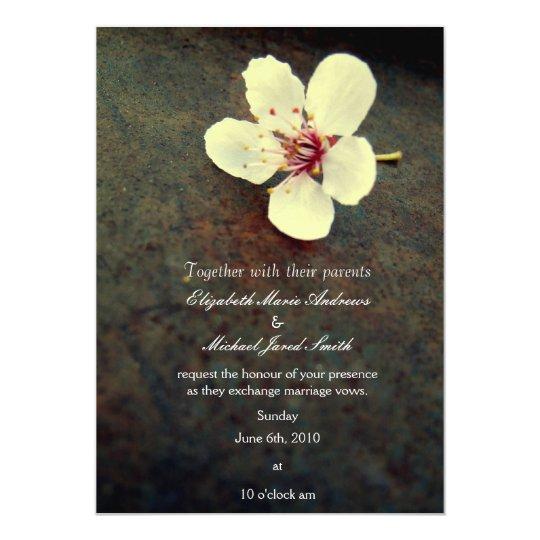 Metal Cherry Blossom Wedding Invitation