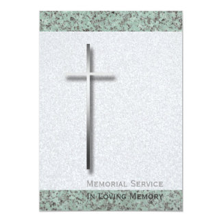 Metal Cross Stone 1 Funeral Announcement