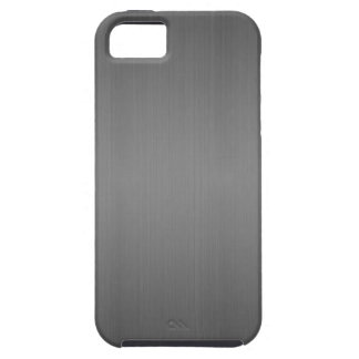 Metal: Dark Brushed Metal Case For The iPhone 5