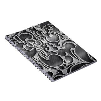 metal decorative textures spiral note books