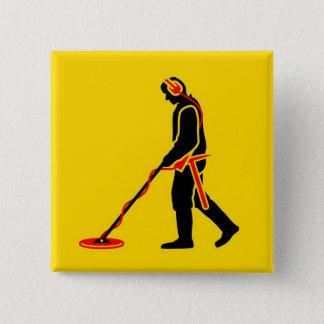Metal Detecting 15 Cm Square Badge