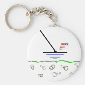 Metal Detecting Basic Round Button Key Ring