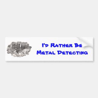 Metal Detecting bumper sticker