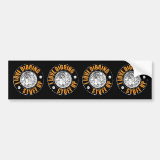 Metal detecting bumper sticker, fun gift bumper sticker