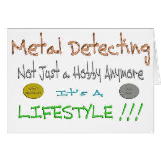Metal Detecting Greeting Card