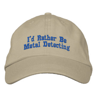 Metal Detecting Hat Embroidered Baseball Caps