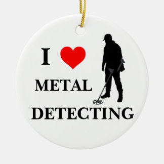 Metal detecting holiday ornament