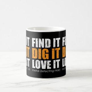 Metal detecting mug, ideal gift coffee mug