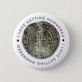 Metal detecting pin badge gift