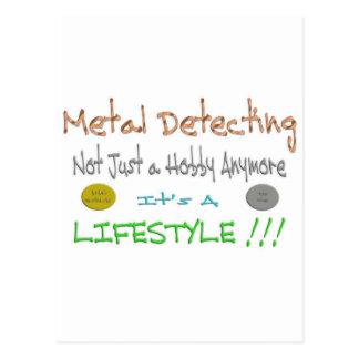 Metal Detecting Postcard