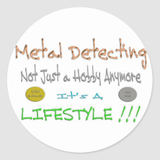 Metal Detecting Round Sticker