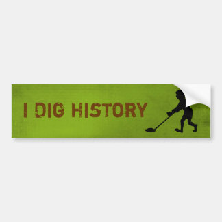 Metal Detector Dig History Silhouette Bumper Sticker