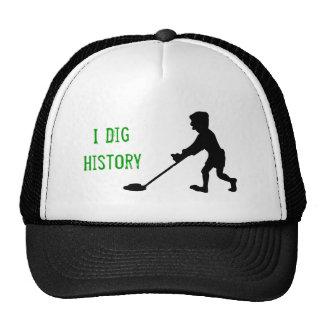 Metal Detector Dig History Silhouette Trucker Hats