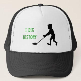 Metal Detector Dig History Silhouette Trucker Hat