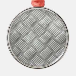 Metal diamond plate christmas ornament