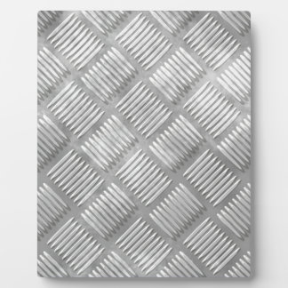 Metal diamond plate plaque