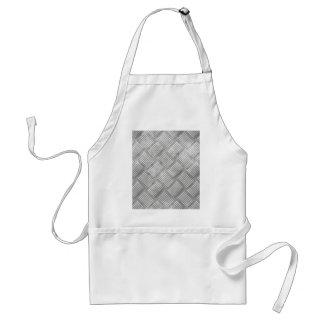 Metal diamond plate standard apron