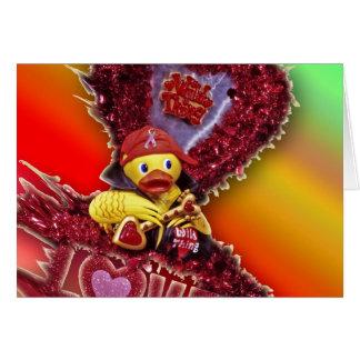 Metal Ducky Love (Blank) Greeting Card