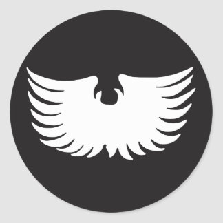 Metal Eagle Classic Round Sticker