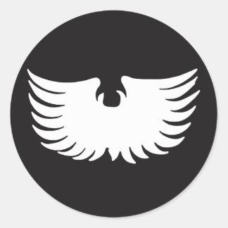 Metal Eagle Round Sticker