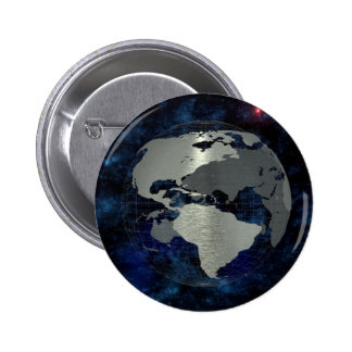 Metal Earth Globe 6 Cm Round Badge