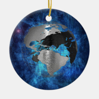 Metal Earth Globe Christmas Ornament