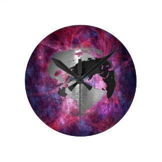 Metal Earth Globe Round Clock
