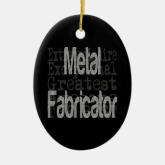 Metal Fabricator Extraordinaire Ceramic Oval Decoration