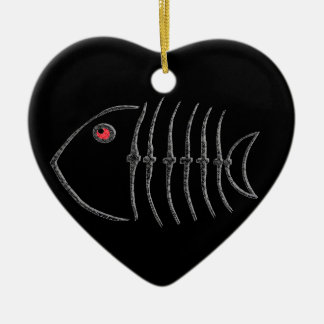 Metal Fish Bones Christmas Ornament