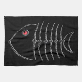 Metal Fish Bones Tea Towel