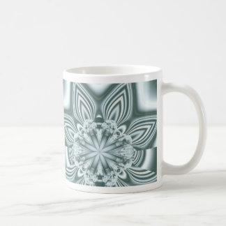 metal flower basic white mug
