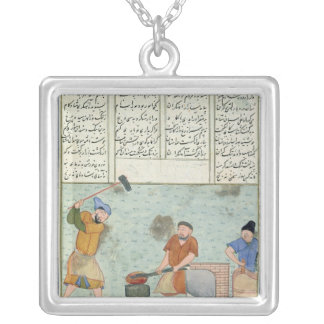 Metal forge, from 'Shah-Nameh Silver Plated Necklace