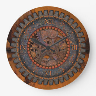 Metal Gears Steampunk Large Clock