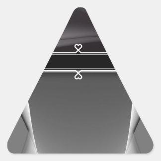 Metal Girly Heart Monogram Triangle Sticker