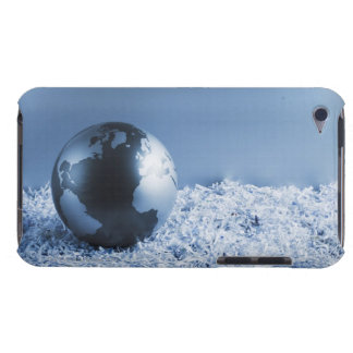 Metal globe on shredded paper iPod touch Case-Mate case
