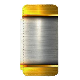 Metal gold aluminium material textures incipio watson™ iPhone 5 wallet case