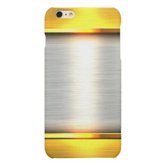 Metal gold aluminium material textures iPhone 6 plus case