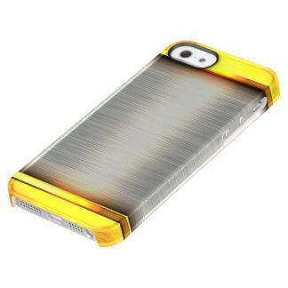 Metal gold aluminium material textures permafrost® iPhone SE/5/5s case