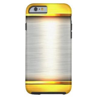 Metal gold aluminium material textures tough iPhone 6 case