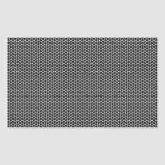 Metal Grate Mesh Rectangular Sticker