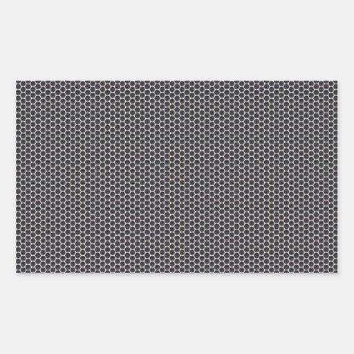 Metal Grate Mesh Rectangular Stickers