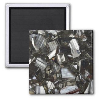 Metal Gray Shiny Quartz Crystals Magnet