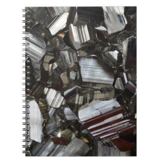 Metal Gray Shiny Quartz Crystals Notebooks