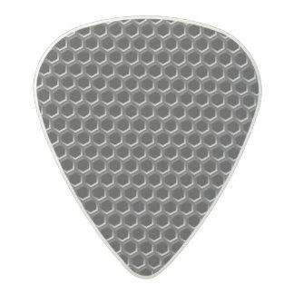 Metal grid pattern - background acetal guitar pick