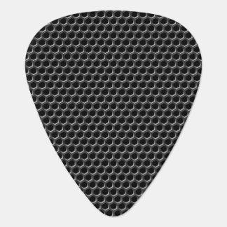 Metal grid pattern - background guitar pick