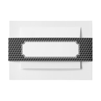 Metal grid pattern - background invitation belly band